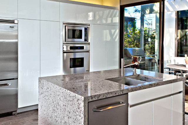 Thermofoil Cabinets Kitchen Modern with Compact Kitchen Glass Slider