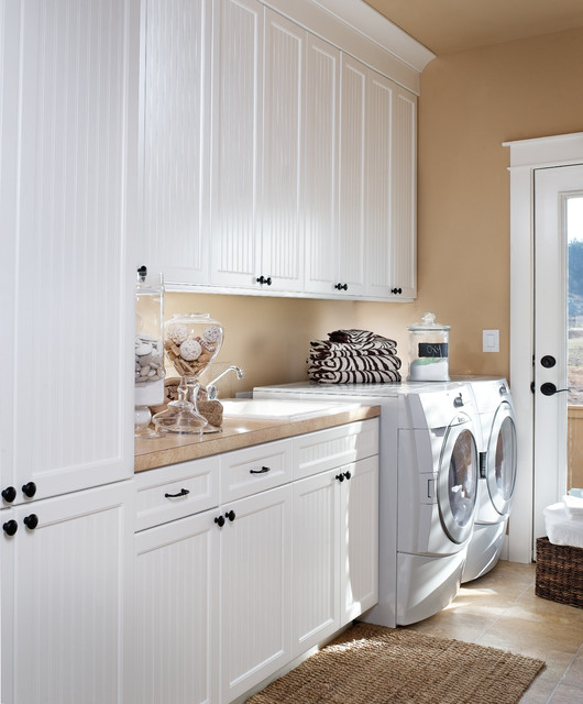 Thermofoil Cabinets Laundry Room Traditional with Beadboard Cabinets Built in Cabinets