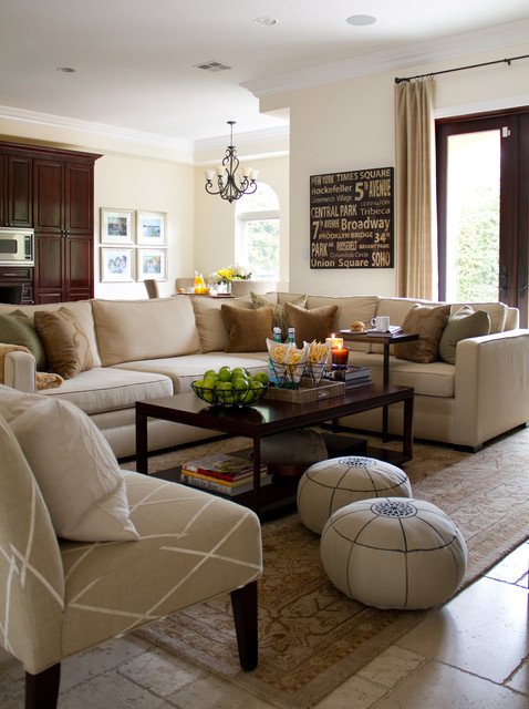 Thomasville Sofas Family Room Traditional with Armchair Chandelier Coffee Table