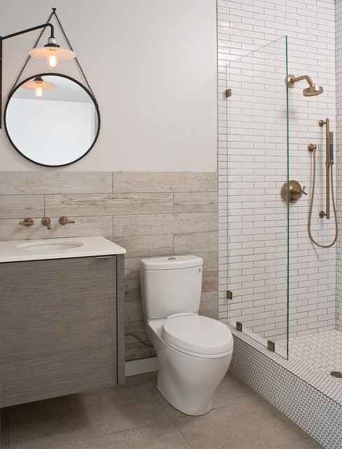Toto Drake Ii Bathroom Contemporary with Floating Vanity Glass Panel