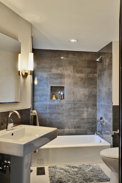 toto sinks Bathroom Contemporary with bath mat ceiling lighting