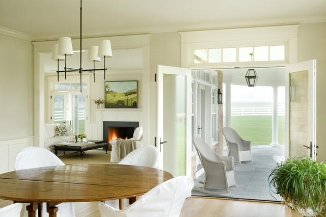 Transom Windows Dining Room Traditional with Chandelier Coffee Table Fireplace