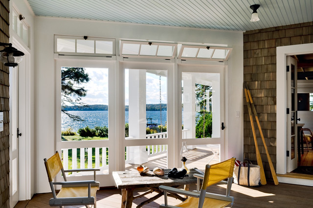 Transom Windows Porch Beach with Ceiling Lighting Deck Directors
