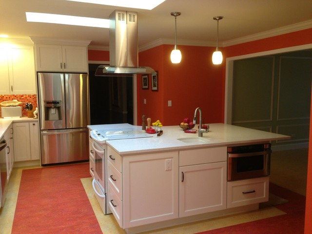 trillium construction Kitchen Contemporary with Bright kitchen colorful kitchen