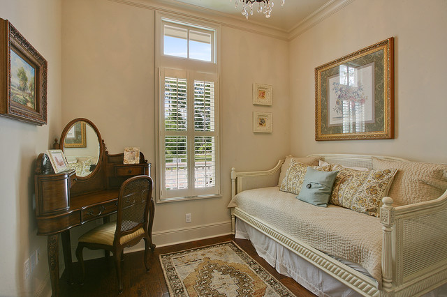 Trundle Daybed Bedroom Traditional with Antique Antique Desk Art
