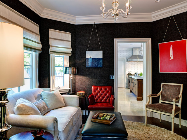 Tufted Loveseat Family Room Transitional with Arteriors Lamps and Tables