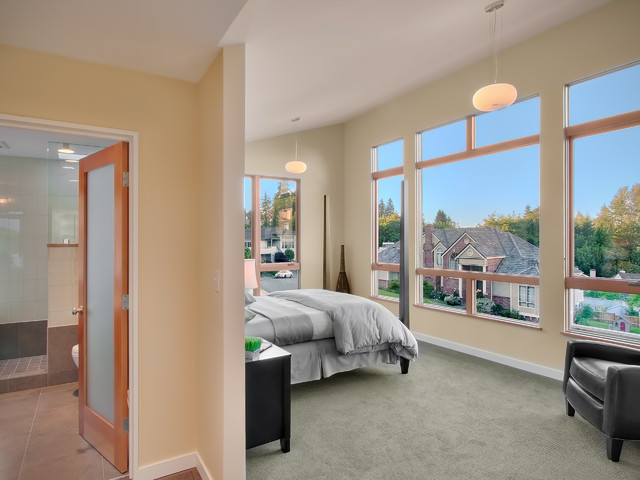 Tuftex Carpet Bedroom Contemporary with Ceiling Lighting Frosted Glass