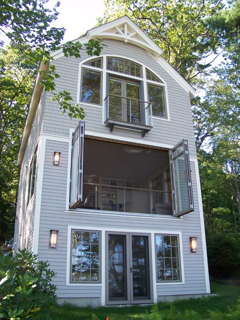 Tumbleweed Tiny House Company Exterior Contemporary with Arched Transom Window Bargeboard
