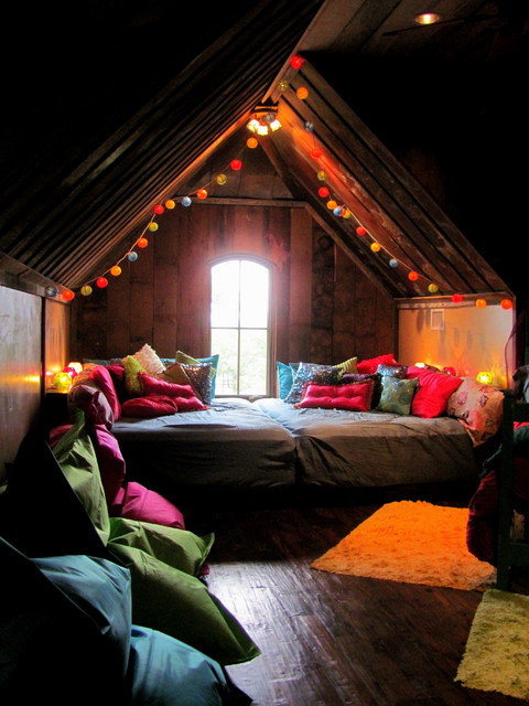 Twin Mattress Topper Bedroom Eclectic with Alcove Arch Window Area