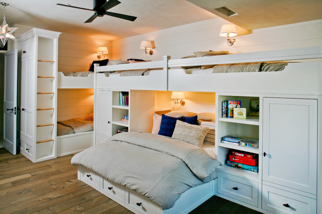 Twin Over Full Bunk Bed with Stairs Kids Beach with Bunk Beds Ceiling Fan