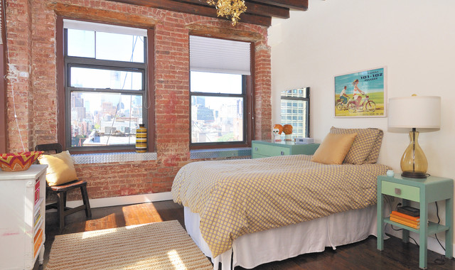 Twin Xl Duvet Covers Bedroom Eclectic with Exposed Brick Wall French