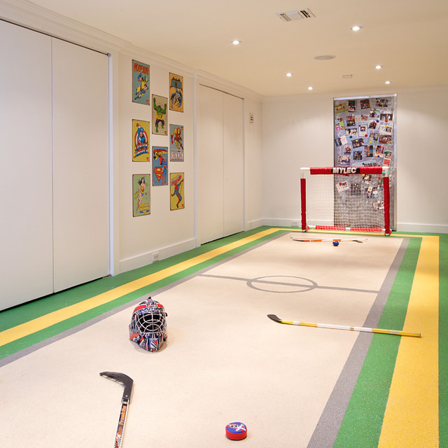 Unfinished Basement Ideas Basement Contemporary with Activity Rug Basement Ceiling
