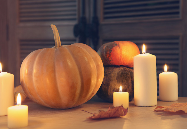 Unscented Candles Spaces with Candlelight Centrepiece Decor Halloween