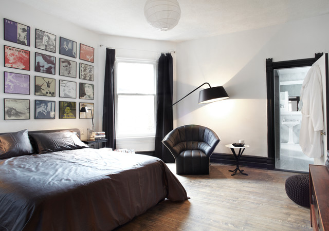 Urban Outfitters Curtains Bedroom Contemporary with Armchair Bedding Black And1