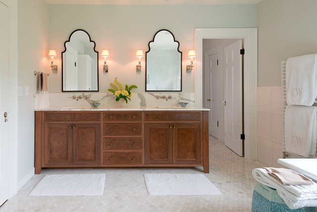 uttermost mirrors Bathroom Traditional with bath mats custom vanity