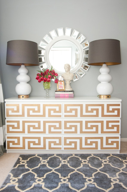Vanity Set Ikea Home Office Eclectic with Gold Accents Gourd Lamps
