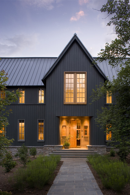 Vertical Siding Exterior Transitional with Appalachian Mountain Home Asheville