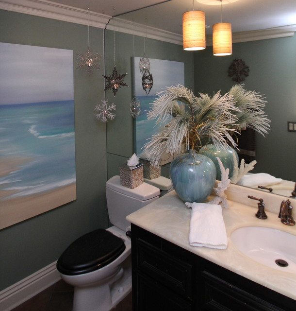 Votive Candle Holders Bathroom Transitional with Art Bathroom Bathroom Decorating