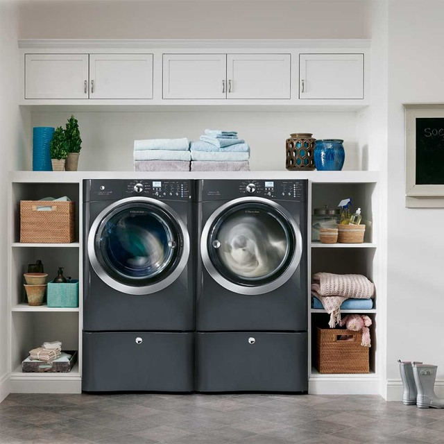 Wall Mount Electric Fireplace Laundry Room Transitionalwith Categorylaundry Roomstyletransitional