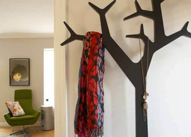 Wall Mounted Coat Rack Entry Eclectic with Coat Hanger Hall Quirky