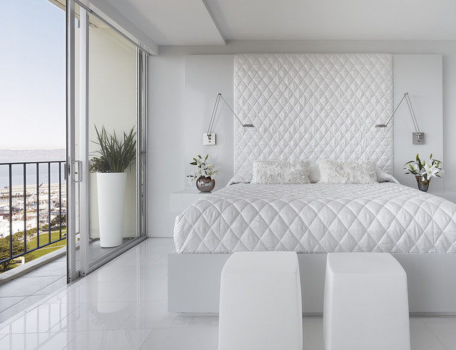 Wall Mounted Headboards Bedroom Modern with Balcony Bedside Table Floral