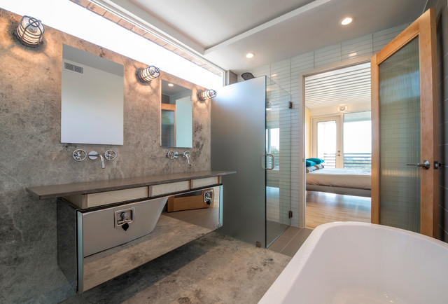 Watermark Faucets Bathroom Contemporary with Dallas Frosted Glass Door