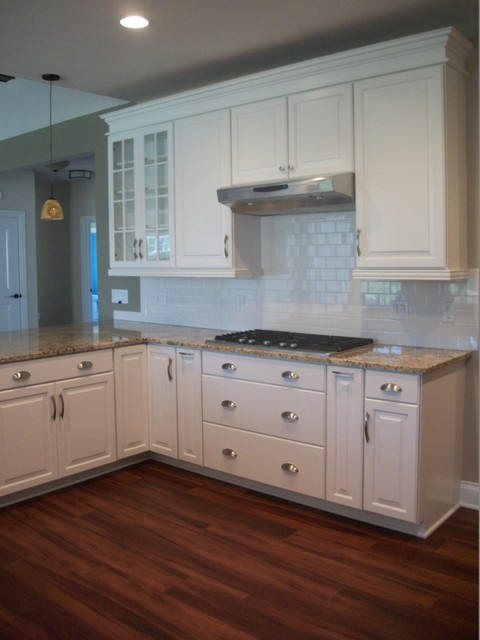 Waypoint Cabinets Kitchen Traditional with Amerock Hardware Black Cabinets