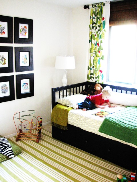 White Daybed with Trundle Kids Eclectic with Area Rug Bedroom Bold