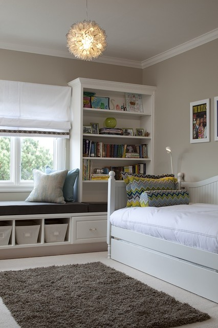 white daybed with trundle Kids Transitional with bolster bookshelves daybed floral