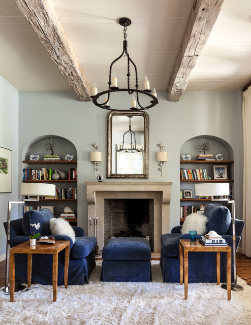 White Shag Area Rug Living Room Transitional with Arched Recessed Wall Shelf