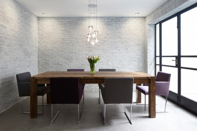 Whitewash Brick Dining Room Contemporary with British Homes Awards Winner
