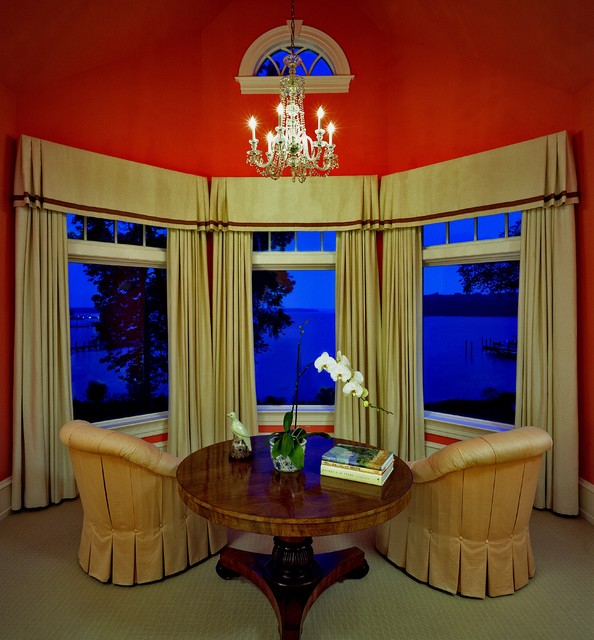 Window Valance Ideas Living Room Traditional with Arch Window Bay Window