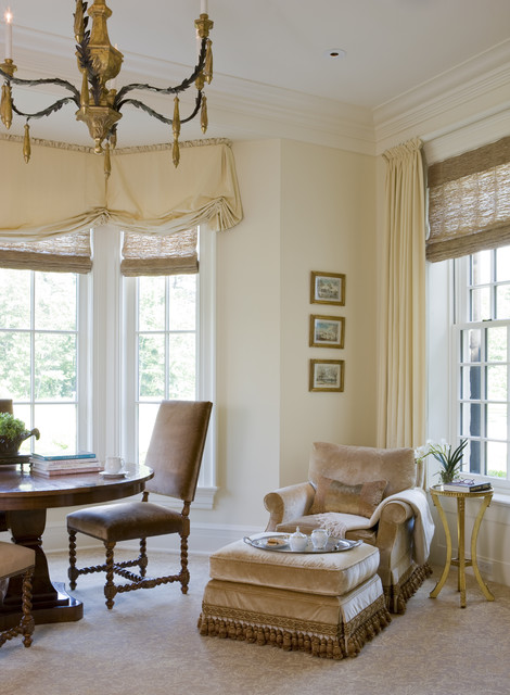 Window Valance Ideas Living Room Traditional with Balloon Shades Baseboards Carpet