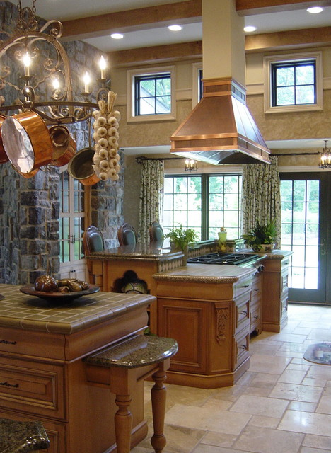 wood mode cabinets Kitchen Traditional with 12-foot ceiling beam ceiling