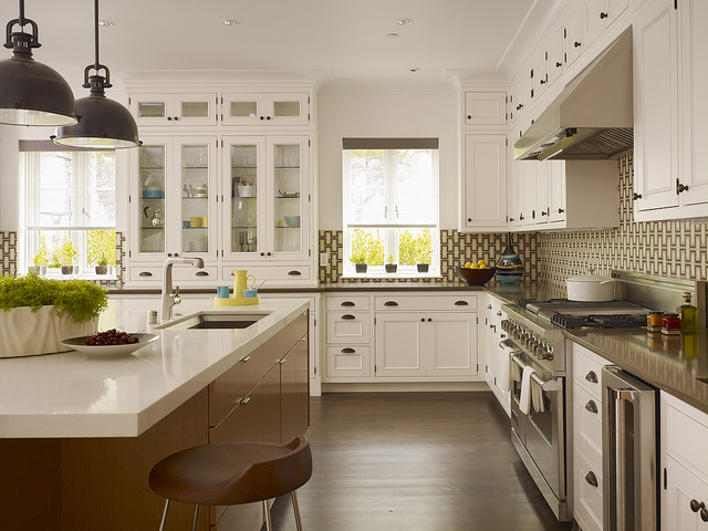 Wood Mode Cabinets Kitchen Traditional with Barstools Breakfast Bar Casement