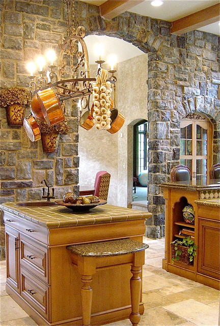 wood mode cabinets Kitchen Traditional with beam ceiling breakfast room
