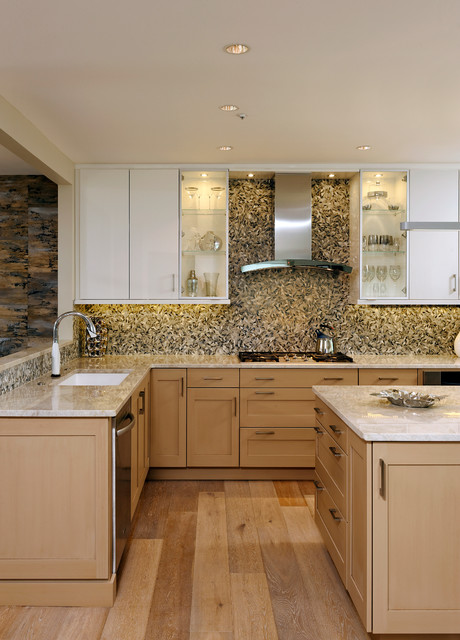 Wood Mode Cabinets Kitchen Transitional with Beige Countertop Brookhaven Cabinets