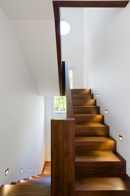 Wooden Step Ladder Staircase Contemporary with Contemporary Staircase Dark Wood