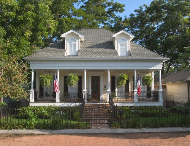 Wrought Iron Spindles Exterior Traditional with Curb Appeal Dormers Flags