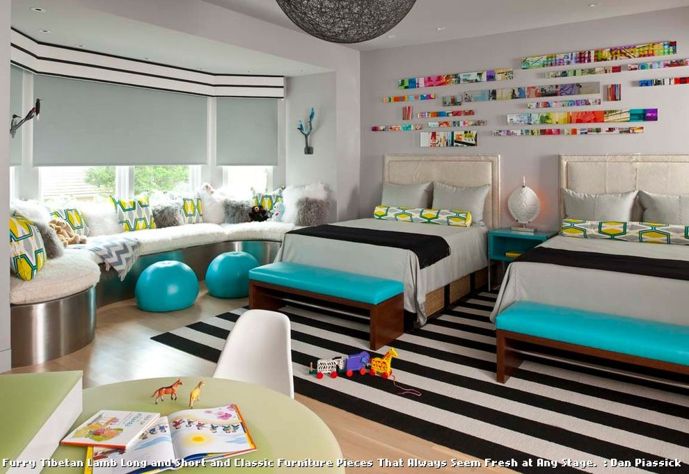 1940s Bed Frame  for Contemporary Kids and Window Seat