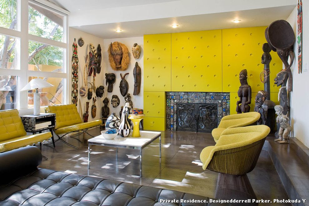 African Daybed  for Eclectic Living Room and Colorful