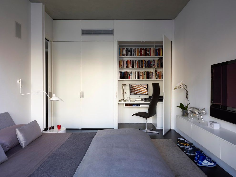 Allen Roth Closet  for Modern Bedroom and Gray Bedding