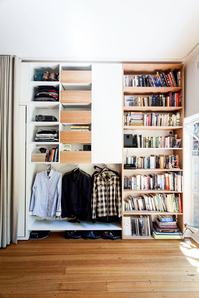 Ceiling to Floor Curtain Track  for Contemporary Closet and Organized