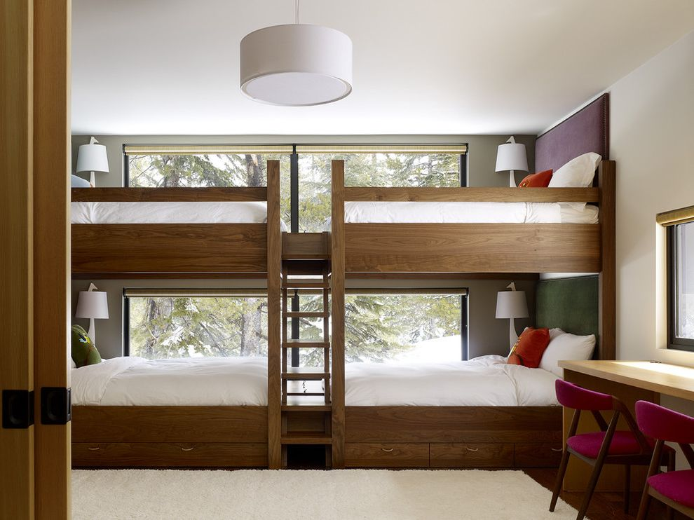 Domo Bunk Beds  for Contemporary Kids and Upholstered Headboards