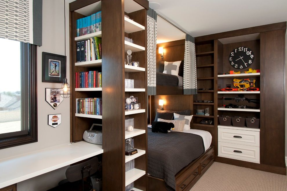 domo bunk beds for traditional kids and sloped ceiling home design ideas galleries. Black Bedroom Furniture Sets. Home Design Ideas