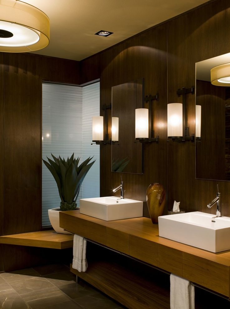 Drum Chandelier in Bathrooms for Contemporary Bathroom and Wall Lighting