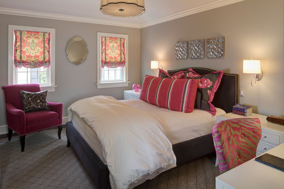 Dunn Edwards Bedroom  for Traditional Bedroom and Mirror