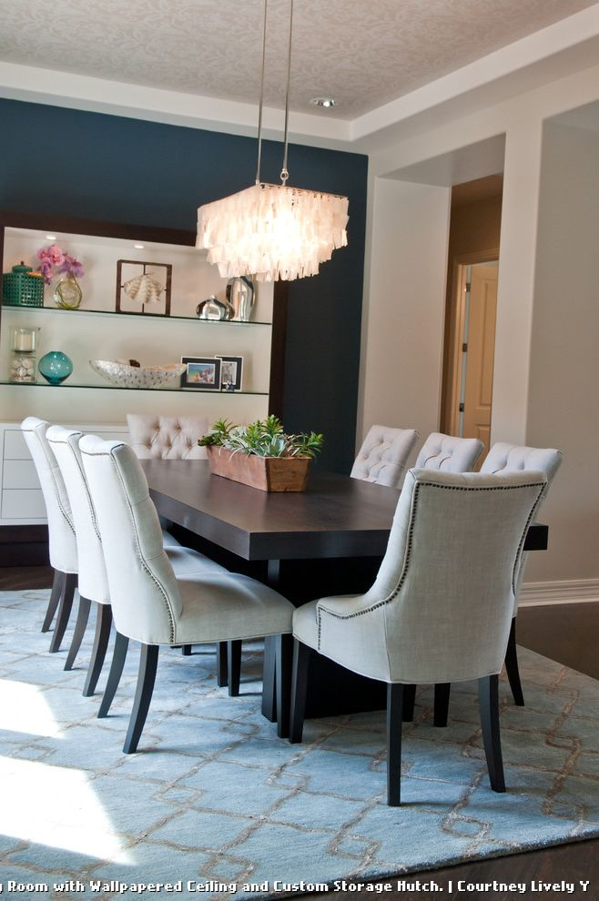 Dunn Edwards Dining Room  for Contemporary Dining Room and White