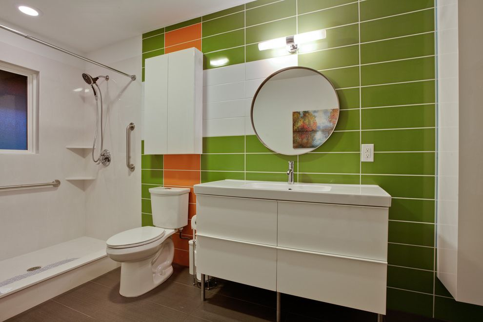 Funky Ideas for Twins Day  for Modern Bathroom and Wall Tile