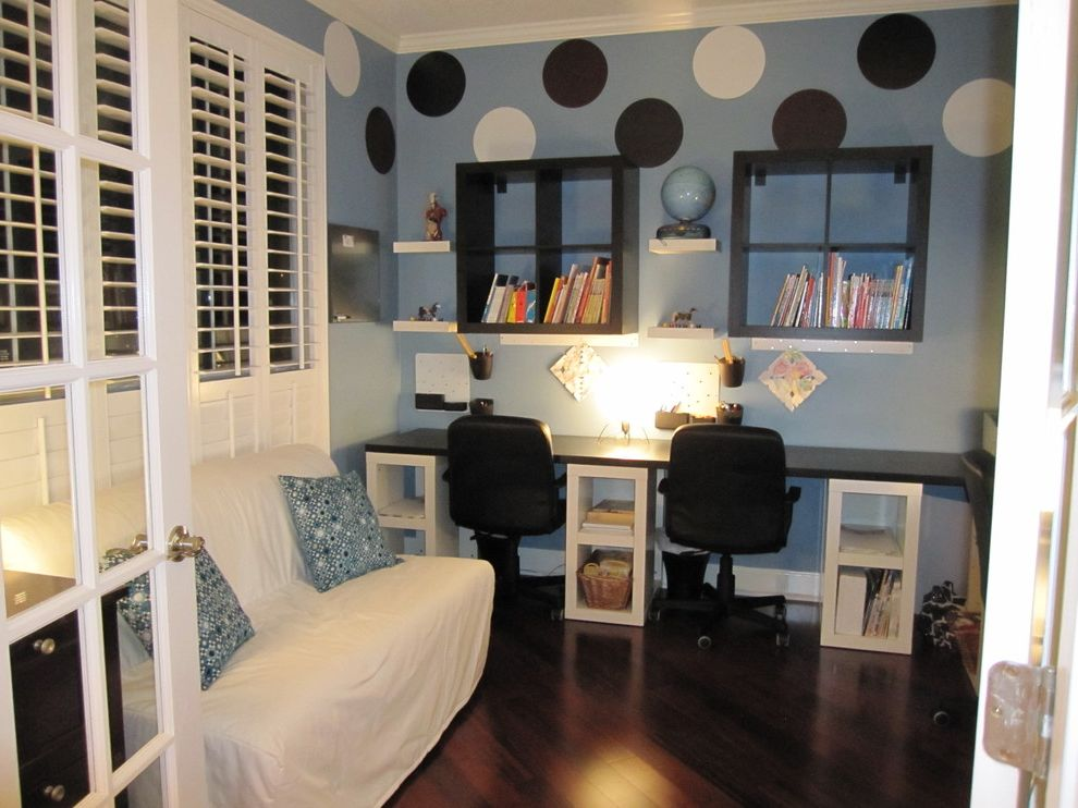 ikea futons for modern home office and homeschool room